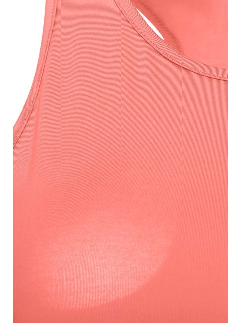 sale Sleeveless Crop Top and Solid Color Skirt Suit - PINK S Mobile