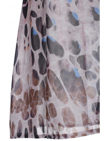 Leopard Print Chiffon Half Sleeves Cover Up - LEOPARD S