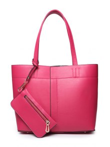 Buy PU Leather Stitching Solid Color Shoulder Bag