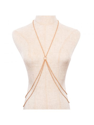 Golden Multi-Layered Body Chain - Golden