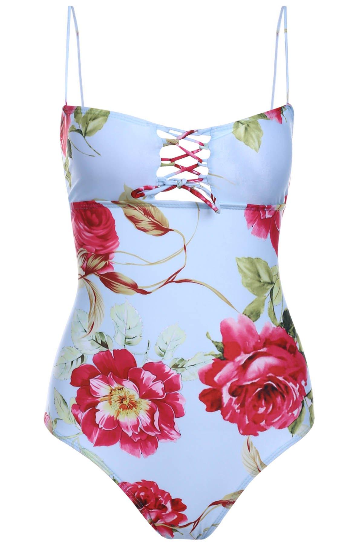 Cami Flower Print One-Piece Swimwear