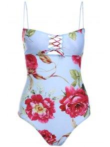 Flower Print Cami One-Piece Swimwear