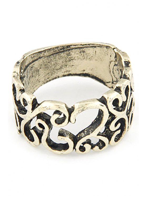 womens Hollow Out Retro Style Ring - GOLDEN ONE-SIZE