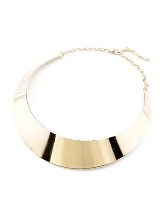 Smooth Mirror Plane Chokers Necklace -   Mobile