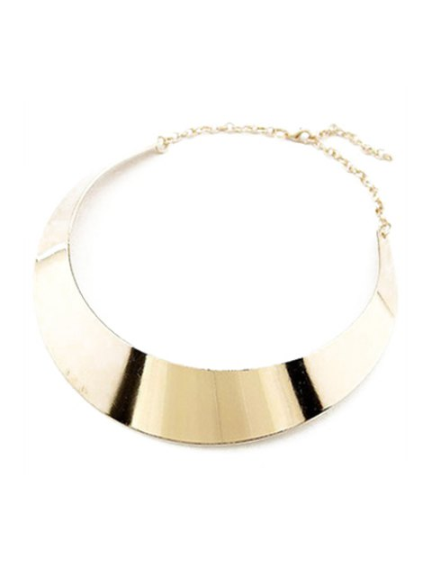 fancy Smooth Mirror Plane Chokers Necklace -   Mobile