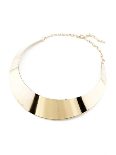 Smooth Mirror Plane Chokers Necklace - GOLDEN  Mobile