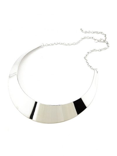Smooth Mirror Plane Chokers Necklace - SILVER  Mobile