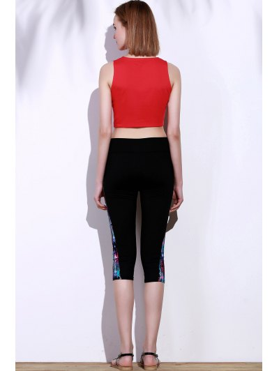 Side Panel Skinny Capri Pants от Zaful.com INT