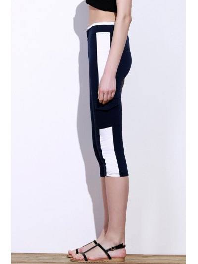 Elastic Waist Color Block Capri Yoga Pants от Zaful.com INT