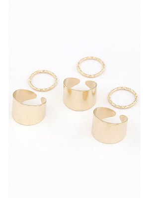 Punk Style Rings - Golden