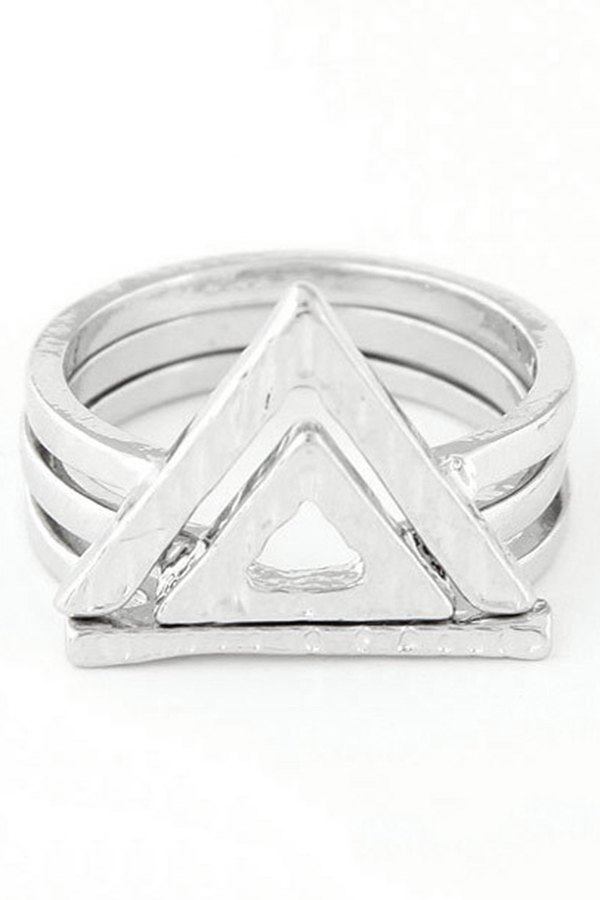 Double Hollow Triangle Rings
