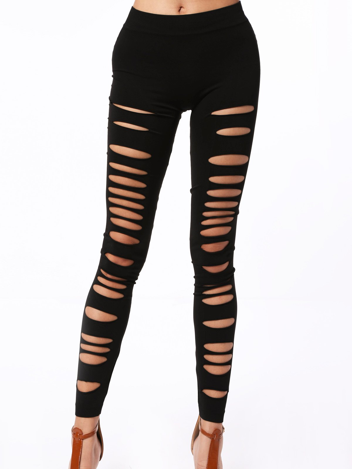 Hollow Out Elastic Leggings