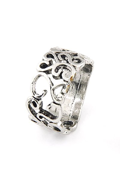 Hollow Retro Style Ring - SILVER ONE-SIZE