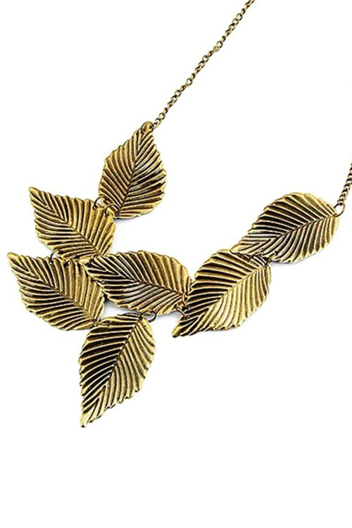 Leaf Shape Retro Style Necklace For Women
