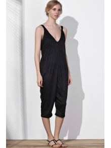 Oversized Minimal Jumpsuit - BLACK S