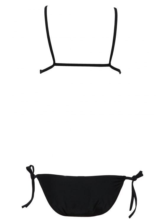 Side Tie String Bikini - BLACK S Mobile