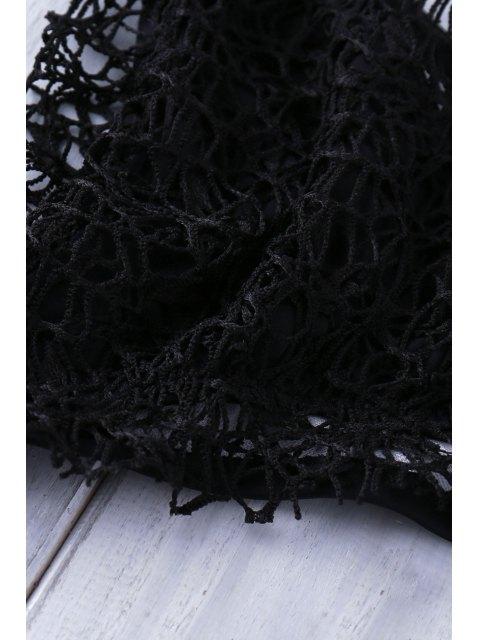 hot Lace Halter Bikini Set - BLACK S Mobile