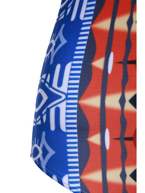 shop Printed Push Up Swimwear - COLORMIX L Mobile