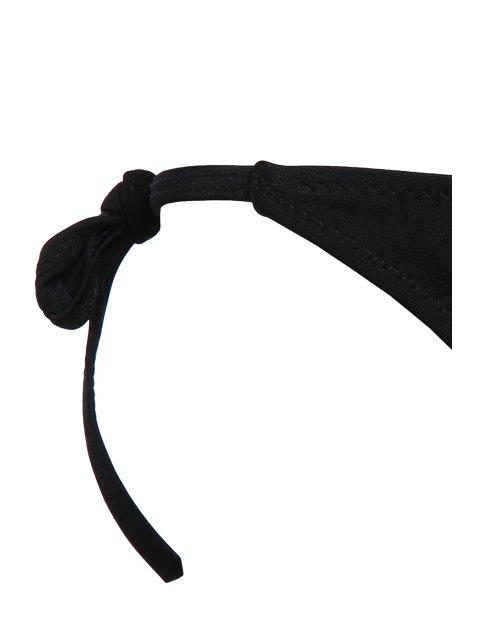 outfit Side Tie String Bikini - BLACK L Mobile