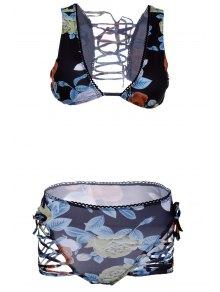 Buds Out Floral Bikini Set - Black S