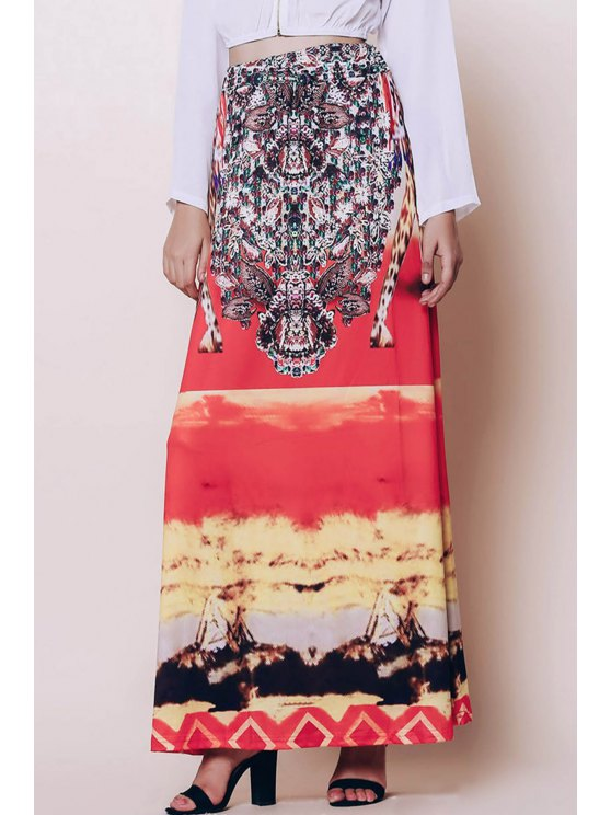 chic Bohemian Printed Loose Fitting Women's Skirt - COLORMIX ONE SIZE(FIT SIZE XS TO M)