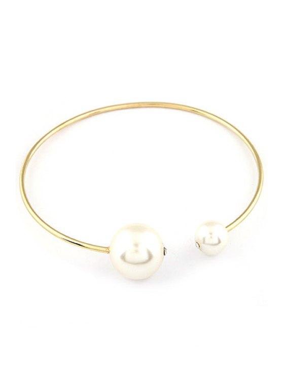 Grandes perlas de imitación collar de oro Gargantillas - Dorado