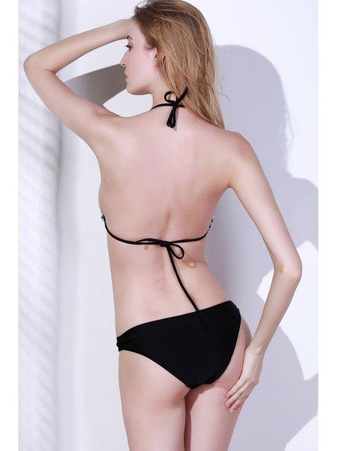 chic Sexy Printed Halter Bikini Set - COLORMIX M Mobile