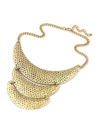 Three Layered Crescent Clavicle Necklace - GOLDEN  Mobile