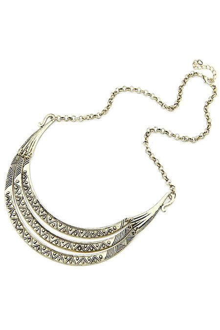 Tribal Style Carve Pendant Alloy Necklace For Women