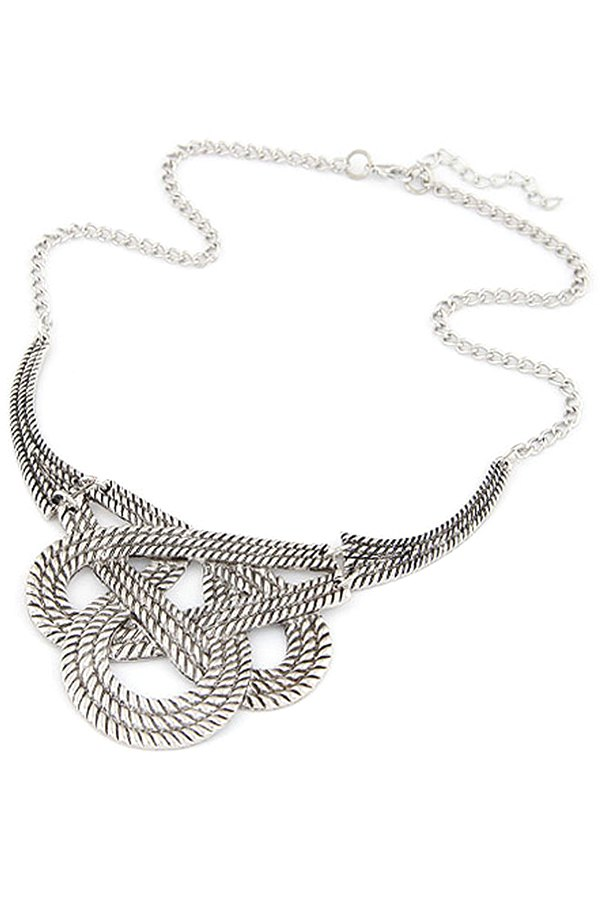 Hollow Weaving Knotted Clavicle Necklace