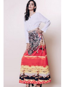 Bohemian Printed Loose Fitting Women's Skirt