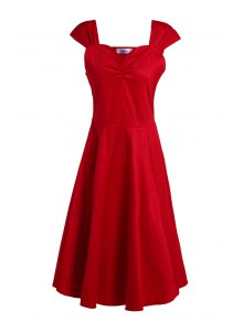 Reversible Solid Color Ball Gown Dress
