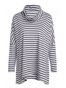 Long Sleeve Striped Loose-Fitting Blouse