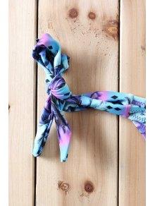 Purple Bra Tree Print Briefs Bikini Set - PURPLE S