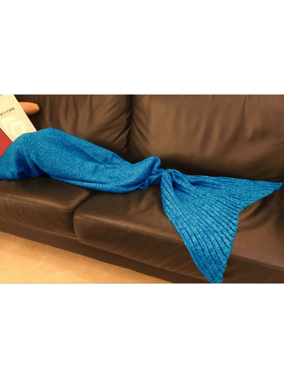 Knitted Sleep Cell Mermaid Blanket - BLUE ONE SIZE(FIT SIZE XS TO M) Mobile