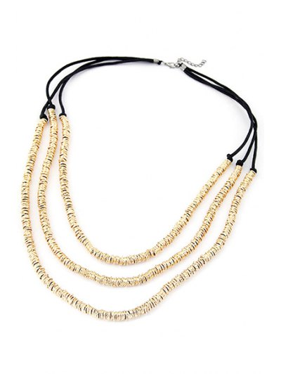 Alloy Three Layered Necklace - GOLDEN  Mobile