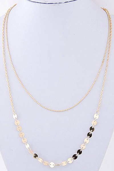 Sequins Double-Deck Necklace