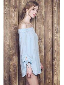 Bow Tie Sleeve Bardot Dress