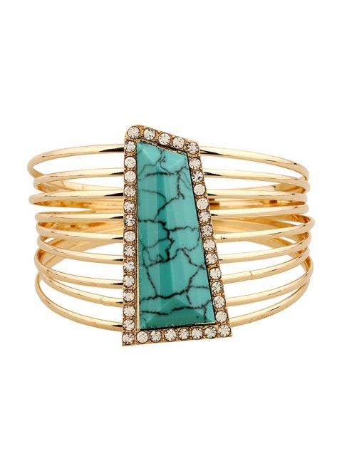unique Alloy Rhinestone Strand Bracelets -   Mobile