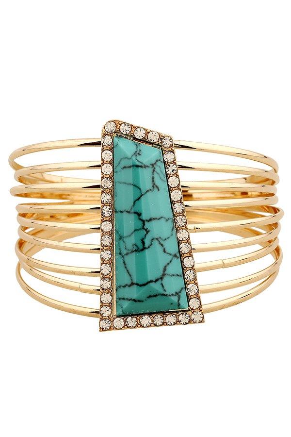 Rhinestone Alloy Strand Bracelets