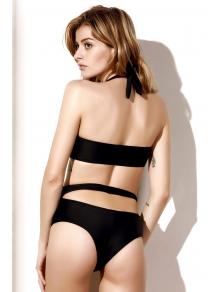 Cutout Black One-Piece Bandage Swimwear