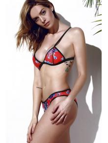 Cami Colorful Print Bikini Set - ROSE S