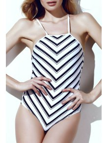 Wavy Stripes One-Piece Swimwear