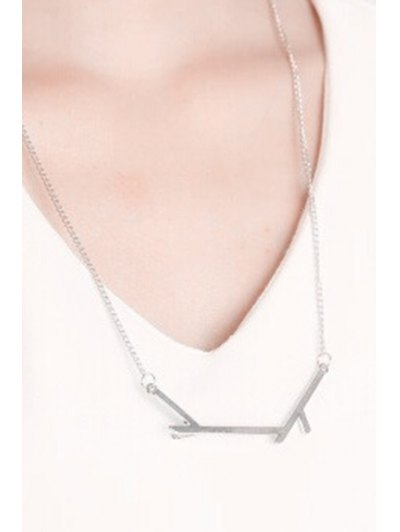 Tree Branch Pendant Necklace - SILVER  Mobile