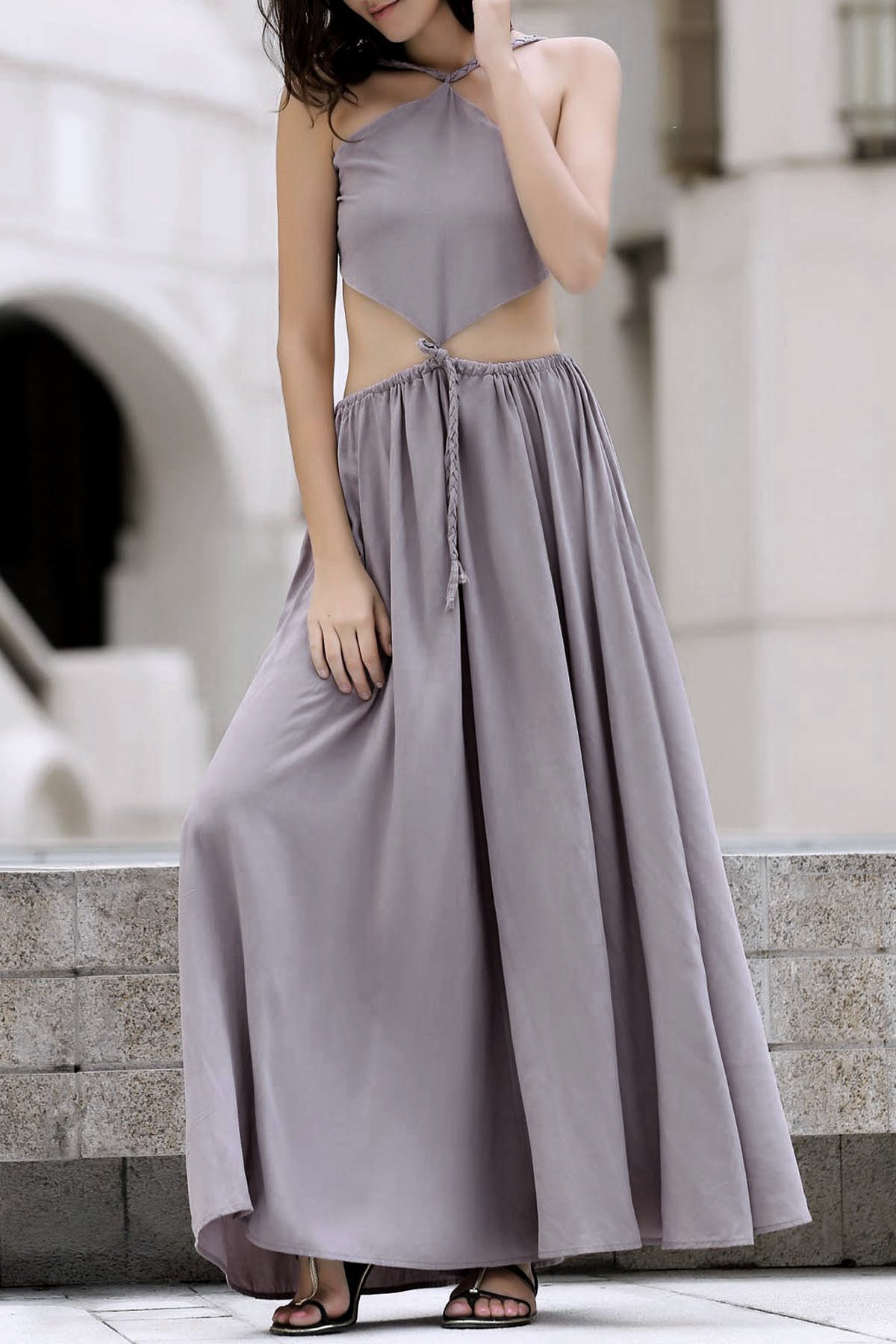 Backless Swingy Boho Dress