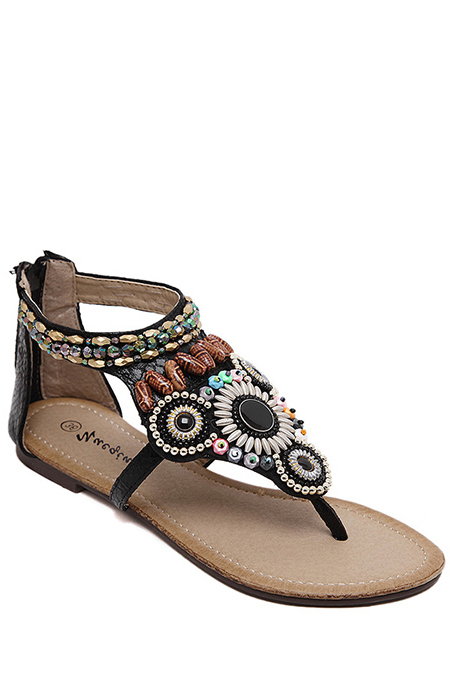 Flat Heel Design Sandals For Women
