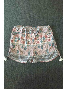 Small Floral Print Hot Pants