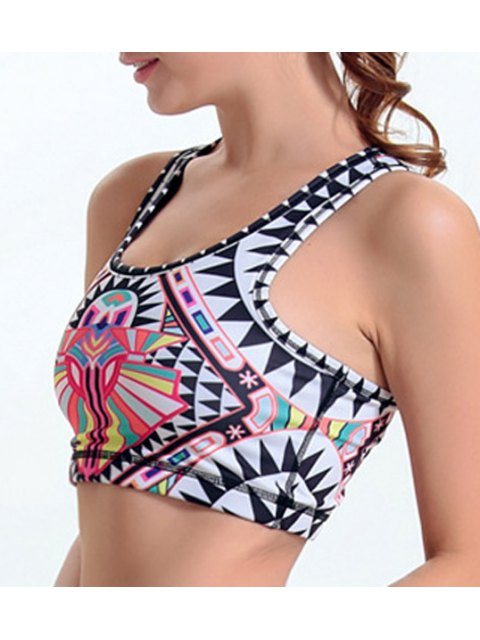 outfit Printed Active Bra - COLORFUL M Mobile