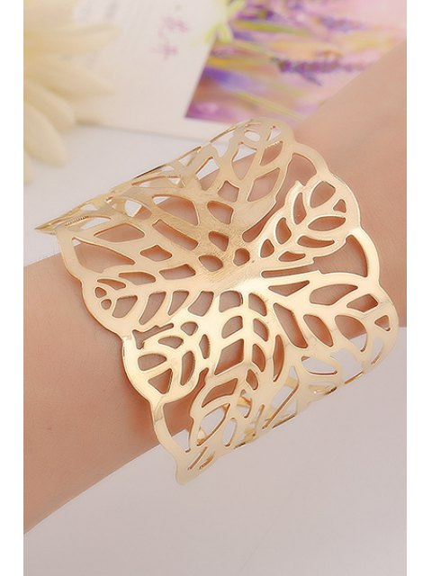 outfits Hollow Out Leaf Cuff Bracelets -   Mobile