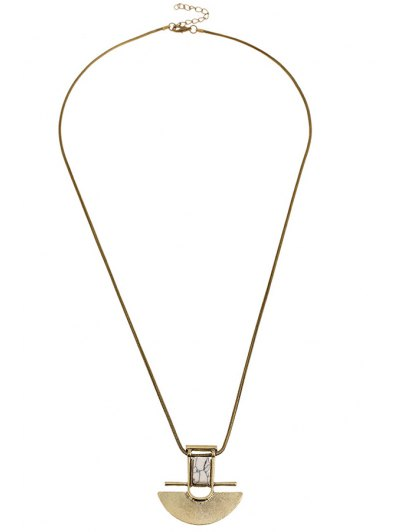 Arch Shape Pendant Necklace - GOLDEN  Mobile